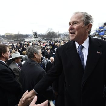 A reminder that at least George W. Bush's rain poncho made us quietly giggle at the inauguration