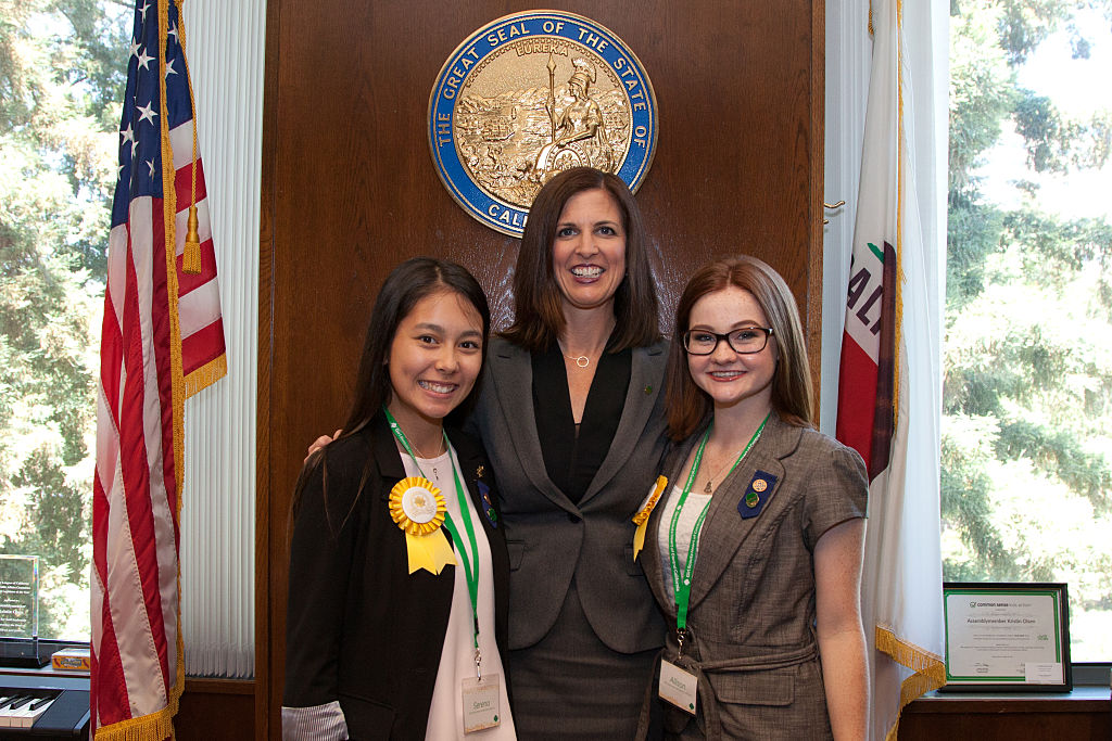 Girl Scouts Shadow Members Of The California Legislative Women's Caucus To Celebrate 100 Years Of The Gold Award In Sacramento