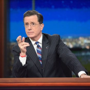 Stephen Colbert is hosting the 2017 Emmys, and we're thanking the award show gods