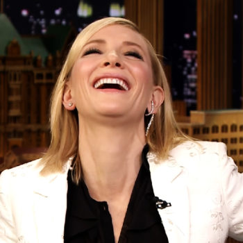 "Cate Blanchett played the ""Emotional Interview"" game with Jimmy Fallon, and this is officially our new favorite thing"
