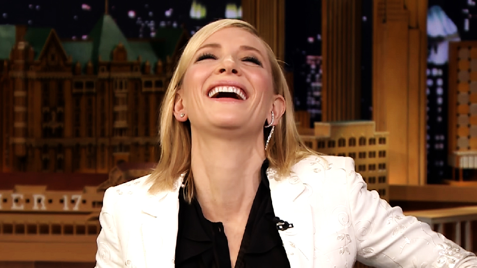 """Cate Blanchett played the """"Emotional Interview"""" game with Jimmy Fallon, and this is officially our new favorite thing"""