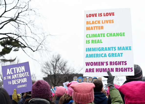 It was the night before the Women's March, and I kept knitting