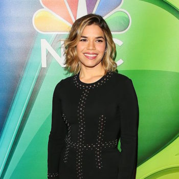 "America Ferrera's bomber jacket looks like something Tibby would wear in ""Sisterhood of the Traveling Pants"""