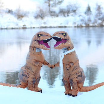 These photographers created a T. rex engagement photoshoot (and it's dino-mite!)