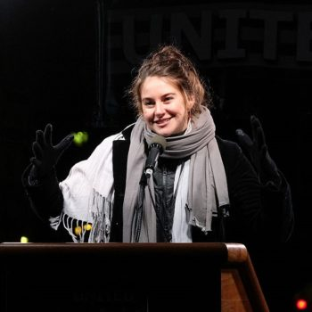 Shailene Woodley is still protesting against the Dakota Access Pipeline, and we're in awe of her passion