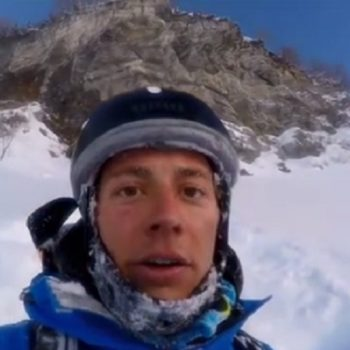 This guy accidentally skied off a cliff, and the footage will steal your breath