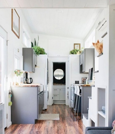 This couple's tiny house is smaller than most bedrooms and yet it's so luxxe