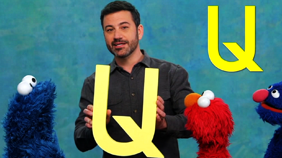 "Jimmy Kimmel visited ""Sesame Street"" last night, and promptly started trouble"