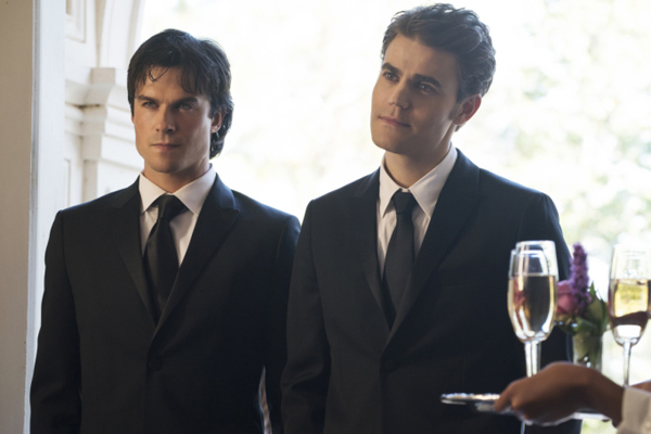 "The final episode of ""The Vampire Diaries"" is being filmed as we speak and the pictures from set are so bittersweet"