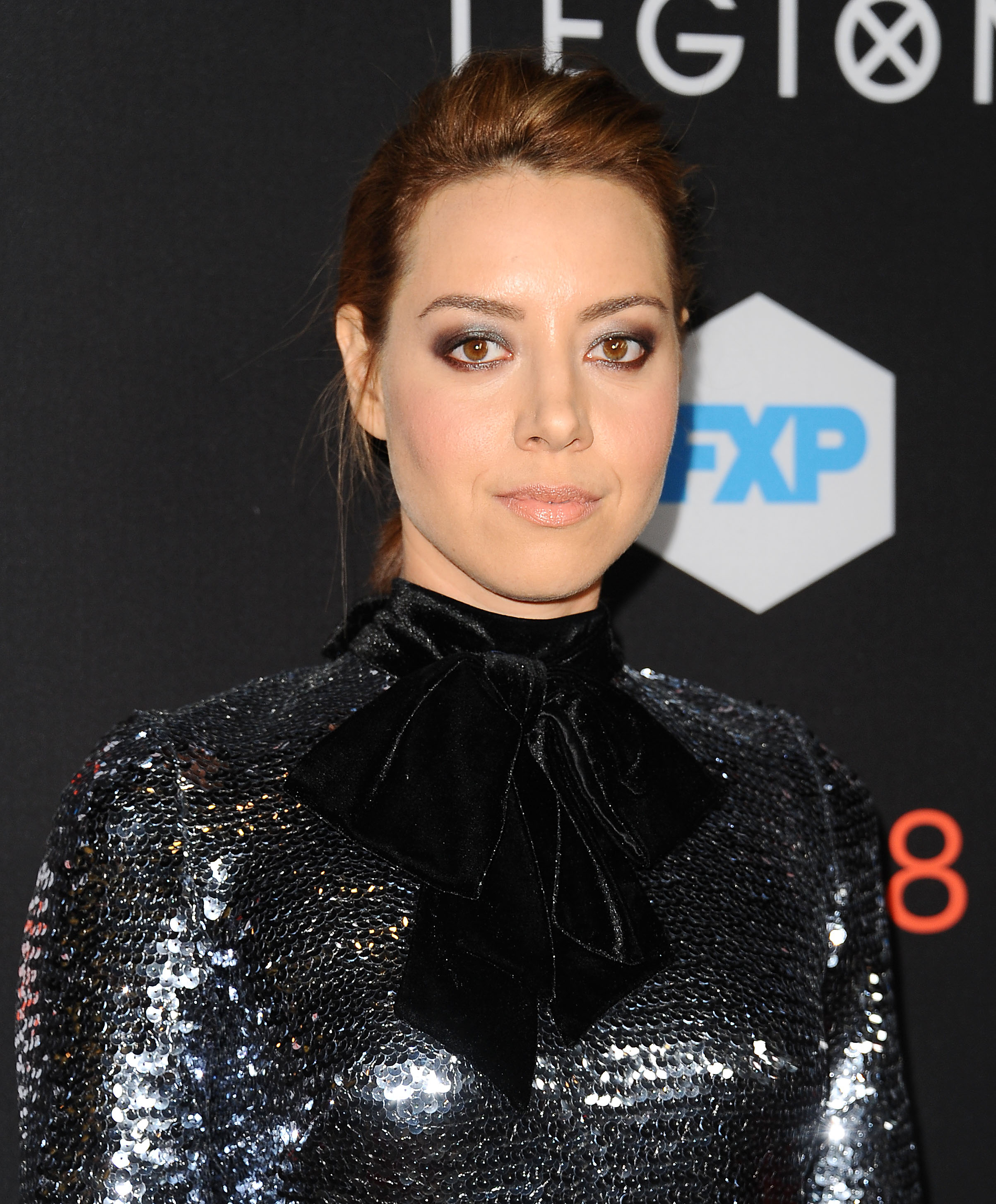 aubrey plaza wore a chrome sequin minidress and we are