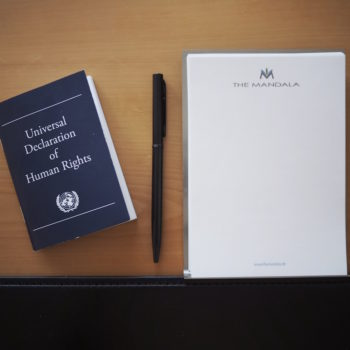 This German hotel is stocking rooms with the Universal Declaration of Human Rights instead of the traditional bible and that's actually pretty cool