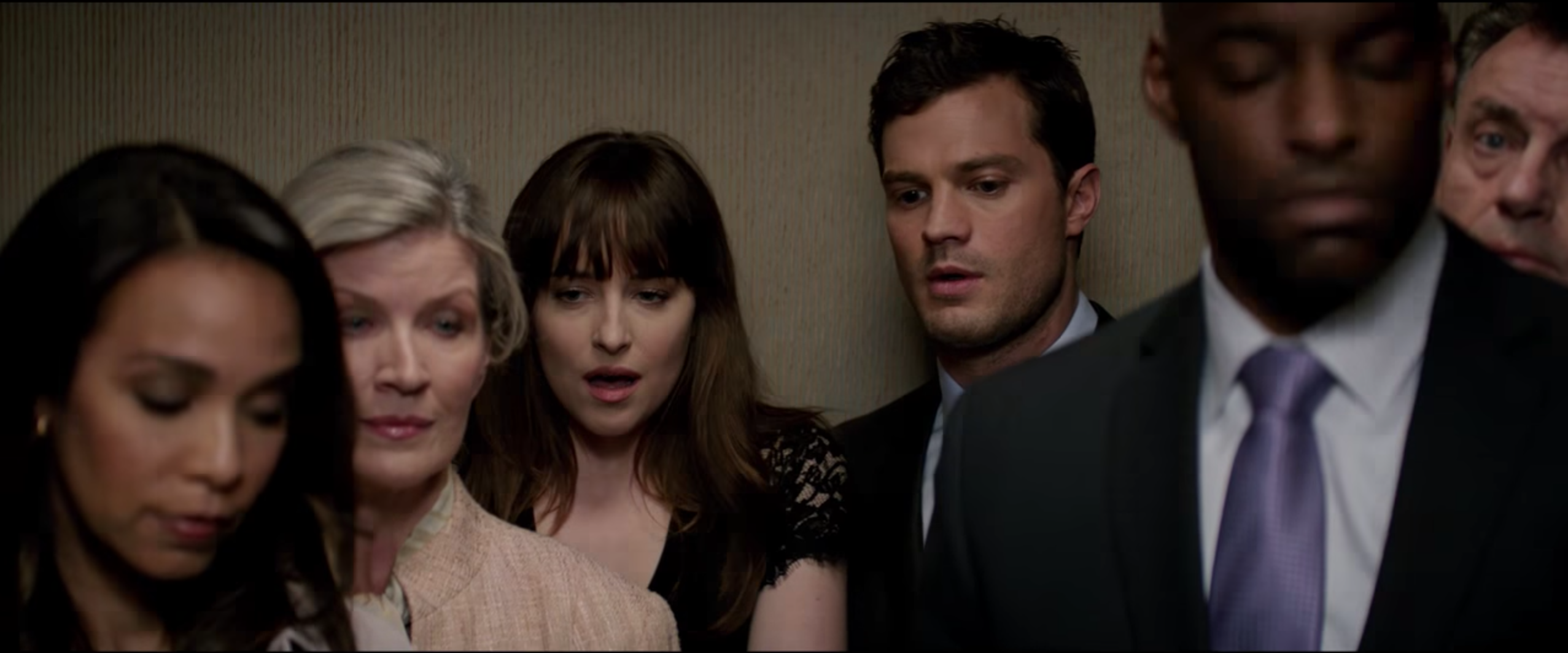 """Watch Christian and Anastasia have NSFW elevator fun in the steamiest """"Fifty Shades Darker"""" teaser yet"""