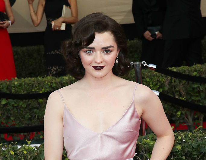Maisie Williams completely STUNNED us in this metallic petal pink gown