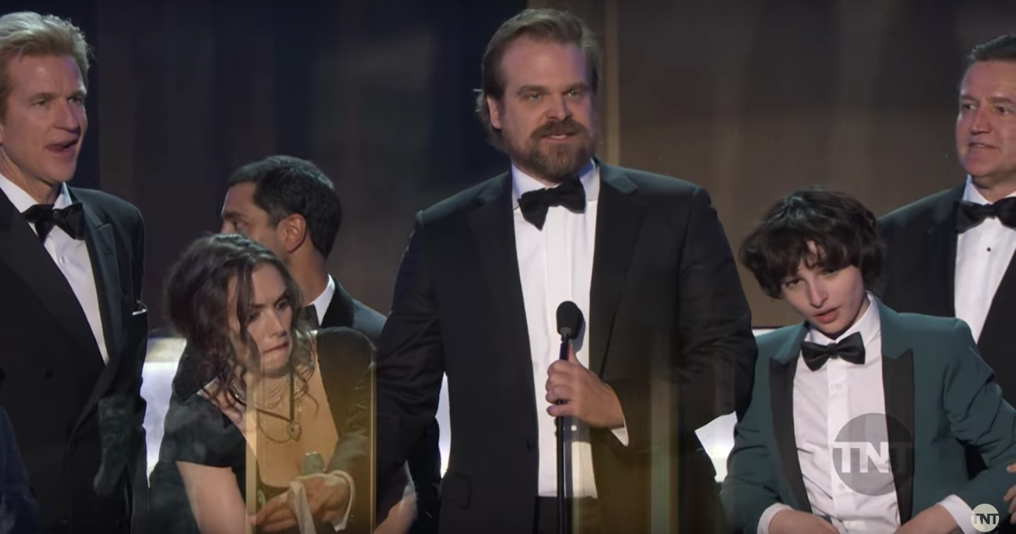 "David Harbour's speech at the SAG awards for ""Stranger Things"" will make you stand and scream HELL YA"