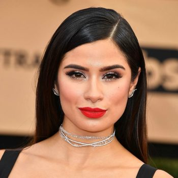 """Orange is the New Black's"" Diane Guerrero looked like Morticia Addams at the SAG awards"