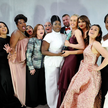 "We can't get over how gorgeous the ""Orange is the New Black"" cast looked at the SAG Awards"