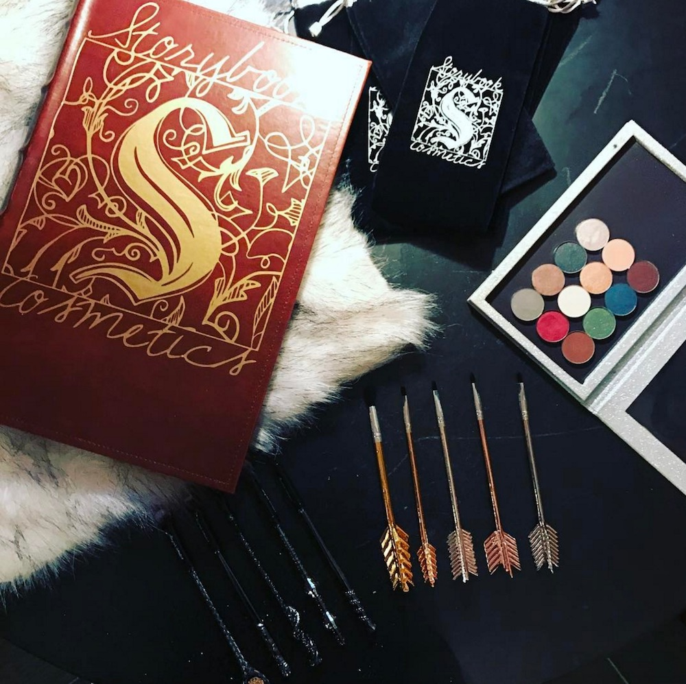 Storybook Cosmetics teased a bewitching black shimmer eyeshadow from a mysterious new palette