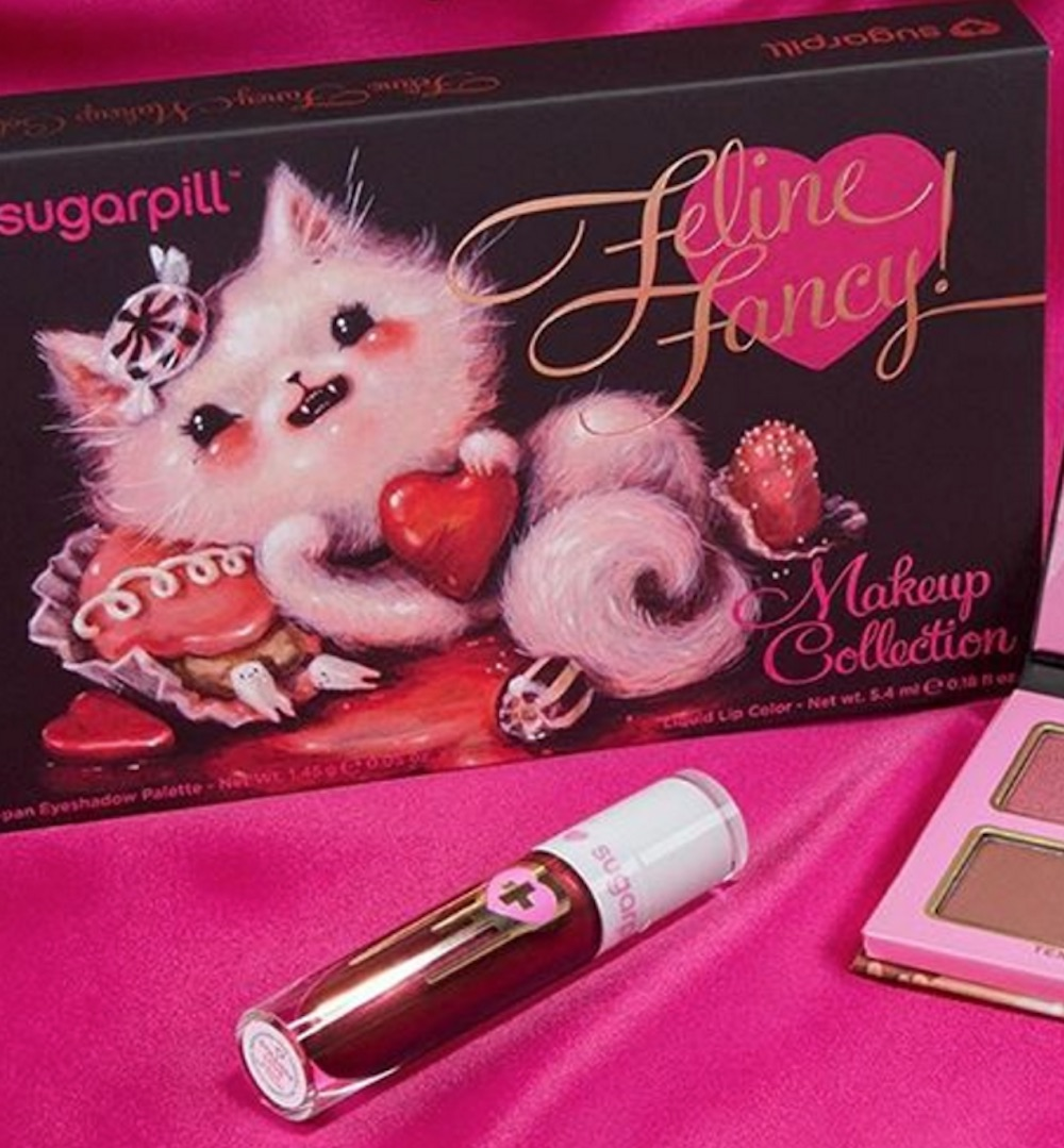 Cat lovers and vintage collectors alike will flip out over Sugarpill's Valentine's Day collection