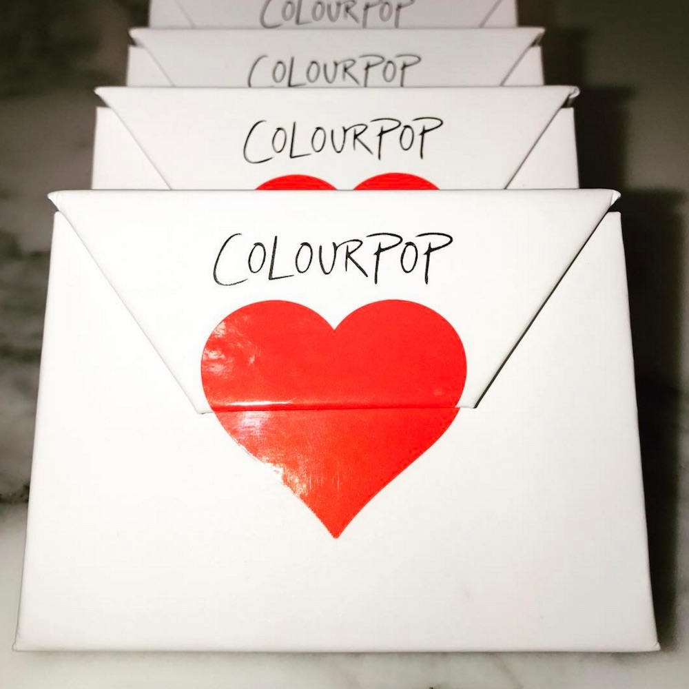 ColourPop's new collection is taking us back to middle school when we'd pass out Valentine cards to our classmates