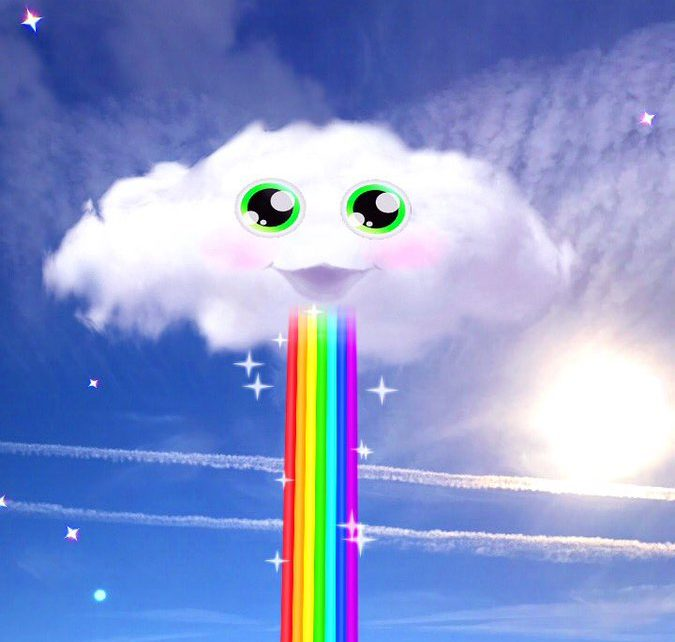 You might not be able to throw up rainbows on Snapchat anymore, but real-life clouds will be able to!