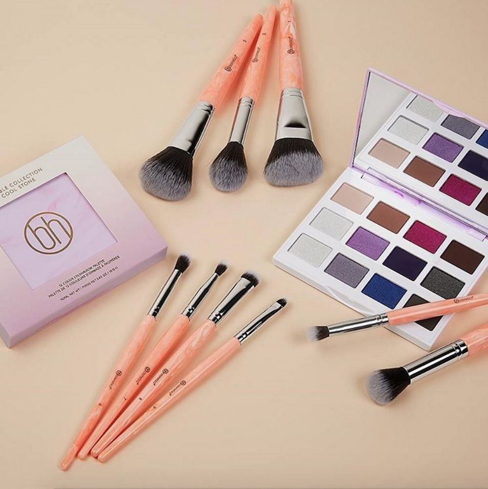 Crystal collectors and makeup lovers alike will fall in love with BH Cosmetics' new Rose Quartz brush set