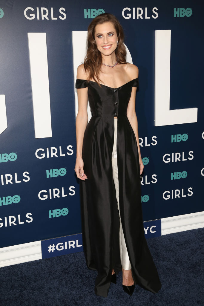Allison Williams' dress-over-pants look is making us rethink our ...