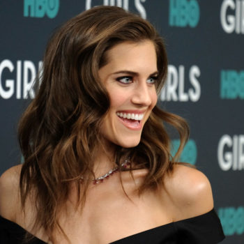 Allison Williams' dress-over-pants look is making us rethink our entire spring wardrobe
