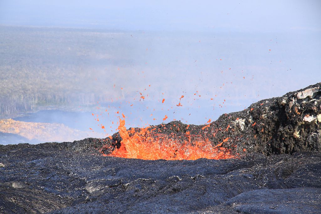 """Here's footage of a """"lava firehose"""" in case you've completely forgotten what warmth is"""