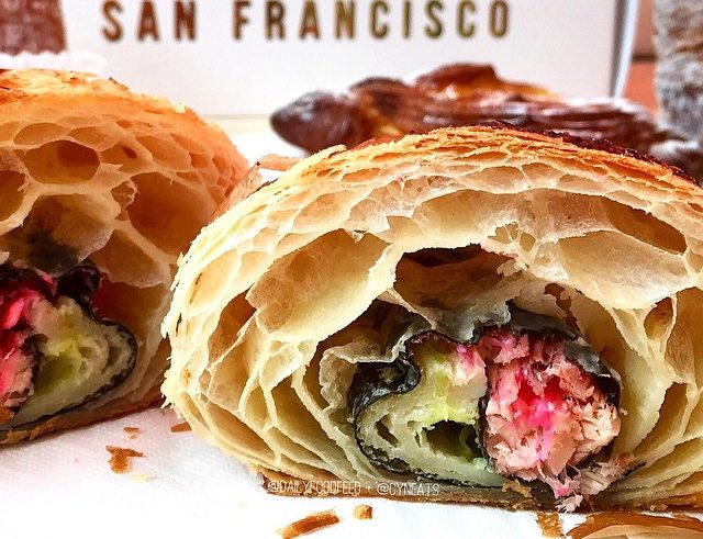 There's now a sushi croissant (and we're not sure if we'd be down to try it)