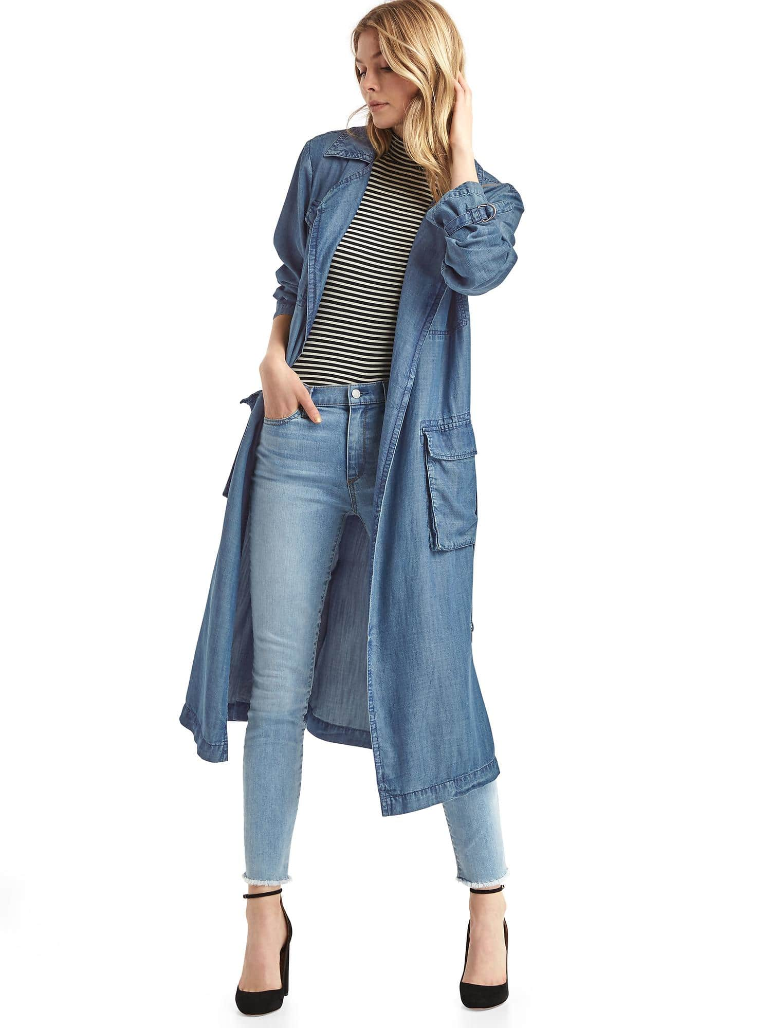 Zo 235 Kravitz Just Made This Long Denim Duster A Thing We Need