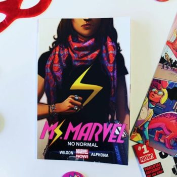 This gorgeous watercolor print of Kamala Khan lets you fangirl out for comics, and helps the ACLU
