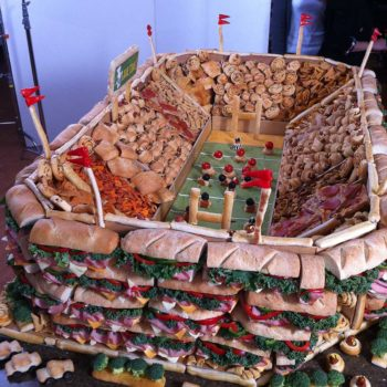 People are building Super Bowl stadiums out of snacks and they are equal parts horrifying and delicious
