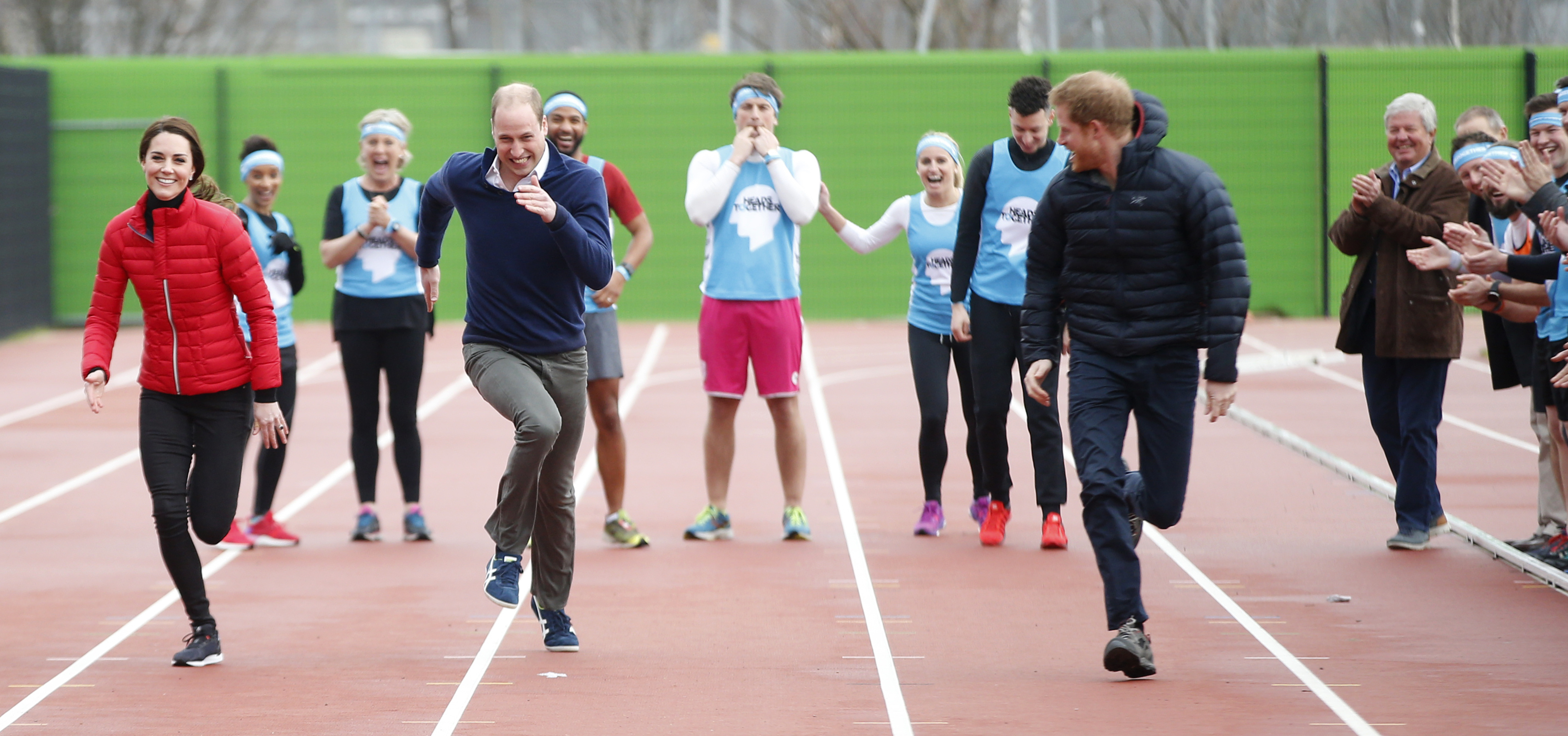 Prince William, Duchess Kate, and Prince Harry had a race, and it was pretty cute like most things they do
