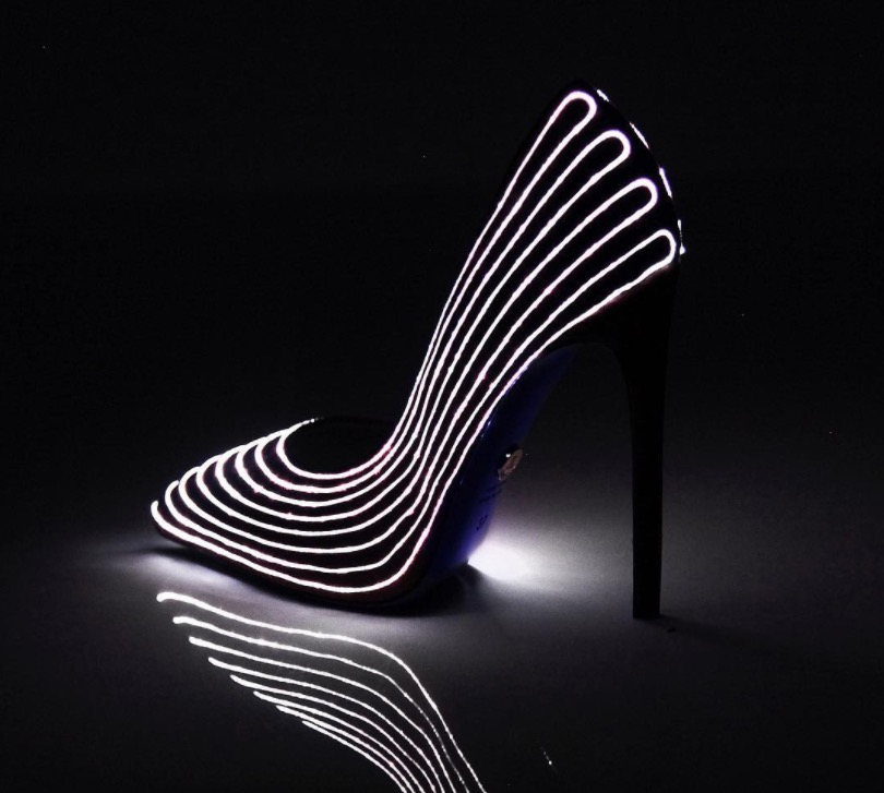 These glow-in-the-dark heels are the glam version of light-up sneakers