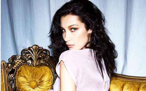 "Bella Hadid showed off some whoa-worthy sheer underwear in this ""Love Magazine"" shoot"