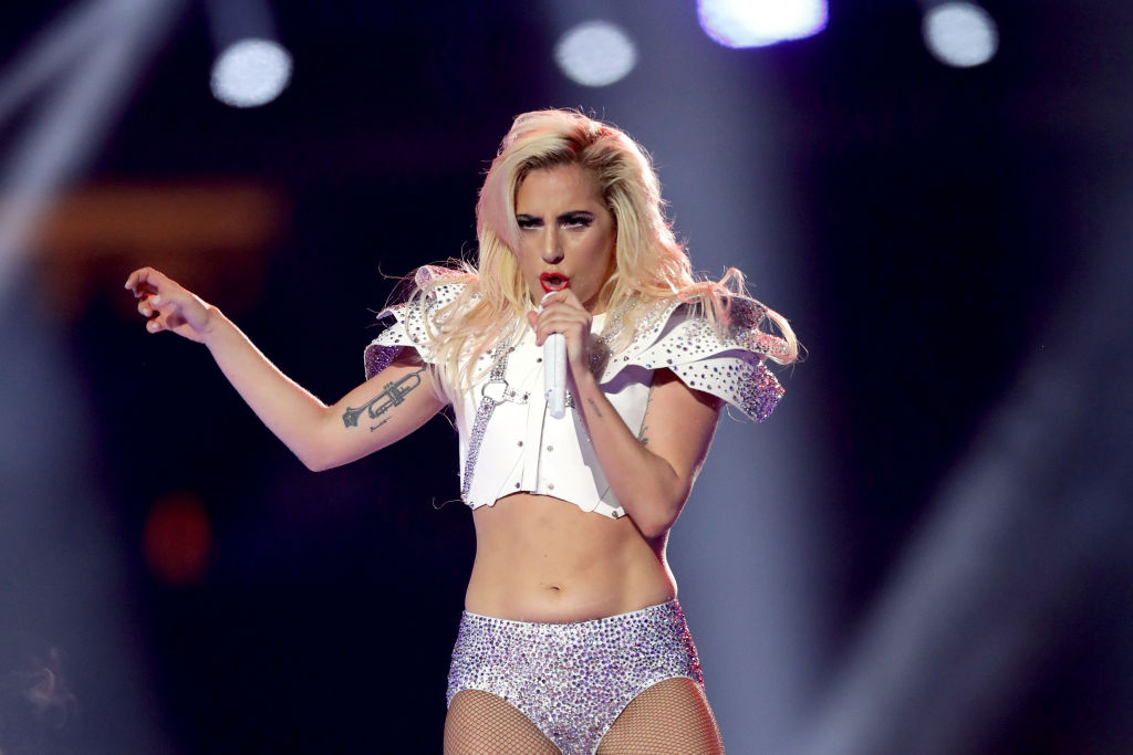 Lady Gaga didn't actually jump from the roof at the Super Bowl, but what she did do was still impressive