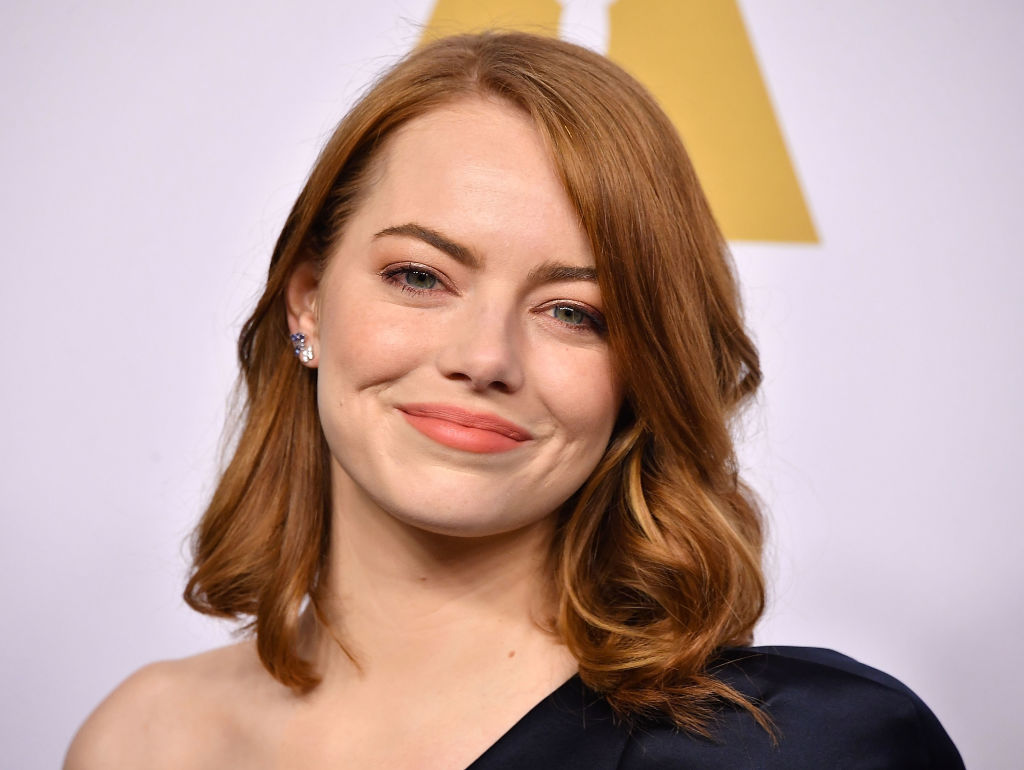 Emma Stone's navy jumpsuit is the one-shoulder trend everyone will be copying ASAP