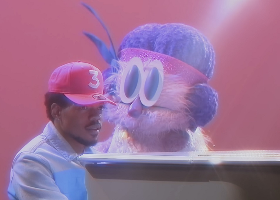 """Chance The Rapper gets a little help from a giant puppet in his new video for """"Same Drugs"""""""