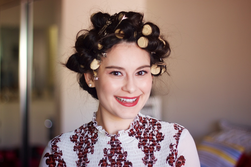 I used wine corks in place of hair curlers and the results were pretty amazing
