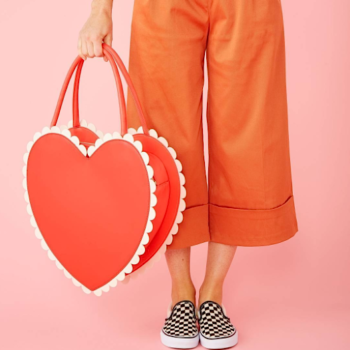 We are crushing SO hard on this gigantic heart-shaped purse from ban.do
