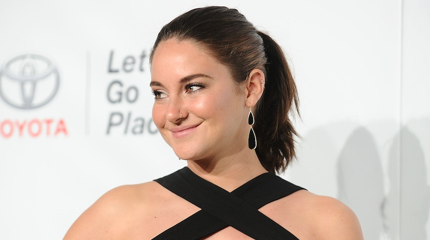 "We are mesmerized by the plunging black-gold dress Shailene Woodley wore to the ""Big Little Lies"" premiere"