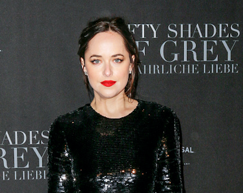 We can't get over Dakota Johnson's sequin dress with the thigh-high slit