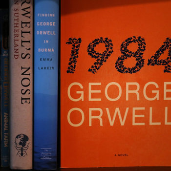"An unknown hero is donating copies of ""1984"" to a bookstore, hoping to inspire people to ""fight back"""