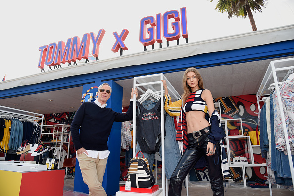 "Gigi Hadid's abs stole the show at the Tommy Hilfiger ""Tommyland"" extravaganza"