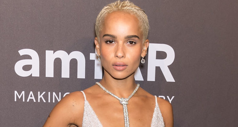 Zoë Kravitz's sparkling silver gown is giving us goals we didn't even know we had