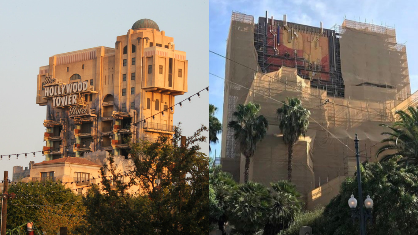 Our first look at Disneyland's newly redesigned Tower of Terror is here and oh wow