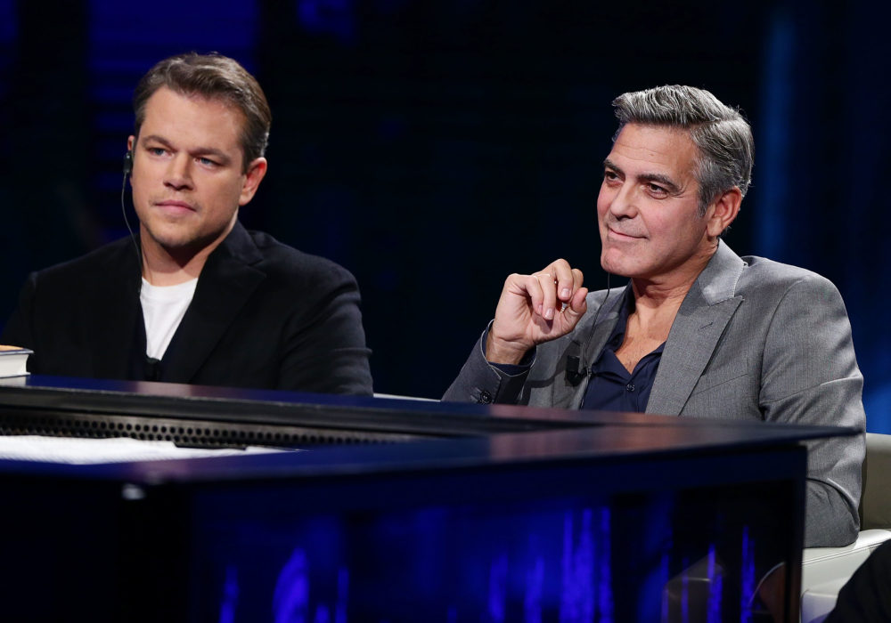 Matt Damon is already gushing about George Clooney as a dad