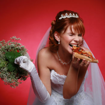 You can set up a wedding registry at Domino's, because pizza is waaaay more important than a toaster