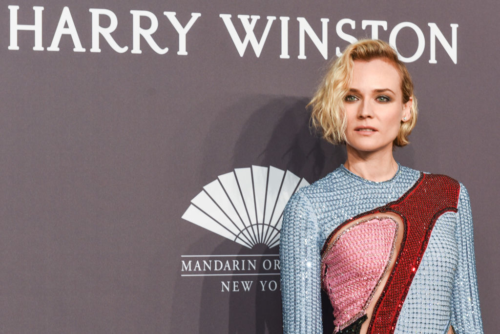 Diane Kruger's cut-out mini dress is like a high fashion puzzle
