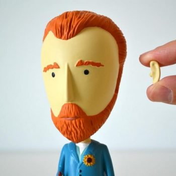 There's a Vincent van Gogh action figure complete with detachable ear, you know, for your art-loving Valentine